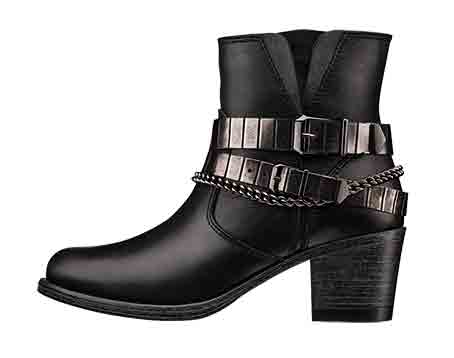 Art 25702 Leather western boot with metallic straps, Cost £37.50 Retail £99.50