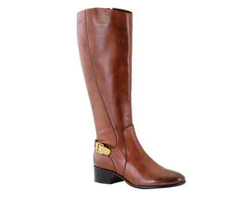 Elena 02 - Cognac Elegant riding boot in rich Italian leather. Trade £66.67 - RRP £160