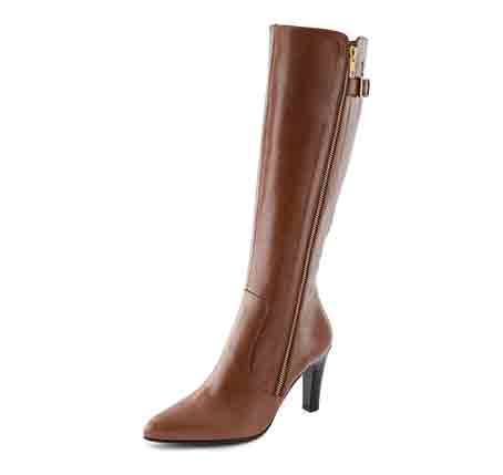 0734 Mid-heel long boot with zip. Trade price £50 - Retail price £150