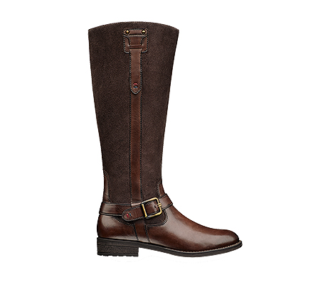 Art 255140  Leather/suede combination riding boot available in chocolate brown, black and navy/choc combinations.  Trade: £37.50 - RRP: £99.50