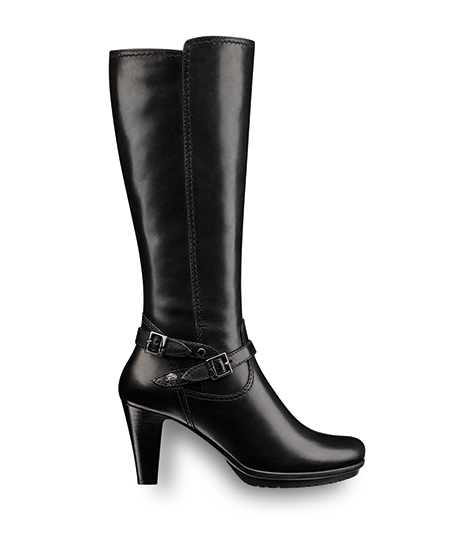 Art 25632  Leather heeled boot available in both regular and slim leg fittings.  Trade: £36.75 - RRP: £99.95
