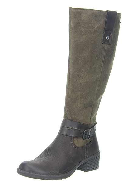 Style: Bellagio 3/550-11    Sizes 3 1/2 -9   Trade: £55.50 - RRP: £140.00 Elegant heeled long boot, PU Injection sole, Removable Insole, Side Zip, Nappa/Nubuck upper with GORE-TEX