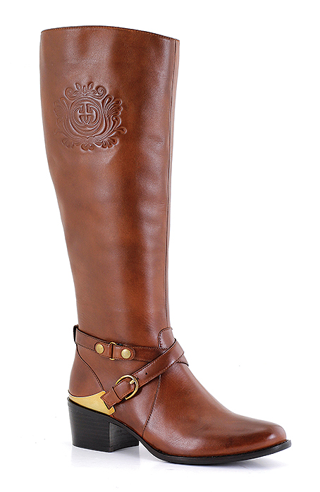 """Dany 03  Trade: £70.83 - RRP: £170  """"Stunning Equestrian Design"""" – Rich Italian leather, subtle embossed detail  with a striking buckle trim."""