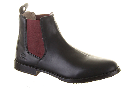 Verona Black:  Premium smooth leather upper with contrasting burgundy elastic. Features a leather sole with rubber grip panels. Trade Price: £45.85 - RRP: £110